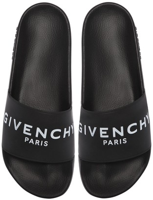 Givenchy Slide Logo Rubber Slide Sandals