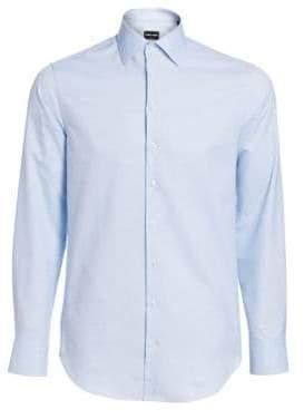 Giorgio Armani Textured Stripe Dress Shirt