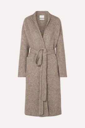 LAUREN MANOOGIAN Belted Mélange Knitted Coat - Brown