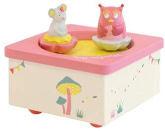 Moulin Roty Baby Music Box - Pink Owl & Mouse, Childrens Music Boxes, Baby Gift