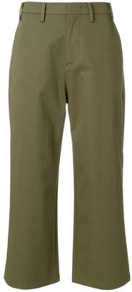 No.21 cropped flare trousers