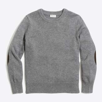 J.Crew Boys' elbow-patch crewneck sweater