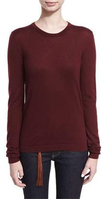 Ralph Lauren Cashmere-Blend Jersey Crewneck Sweater
