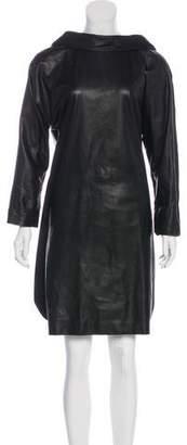Hermes Leather Knee-Length Dress