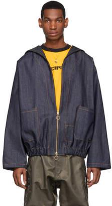 St-Henri SSENSE Exclusive Blue Denim Work Jacket
