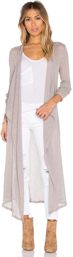 BobiBobi Mesh Sweater Long Sleeve Long Cardigan