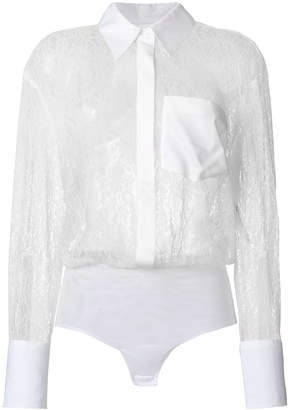 Dondup long sleeved lace shirt