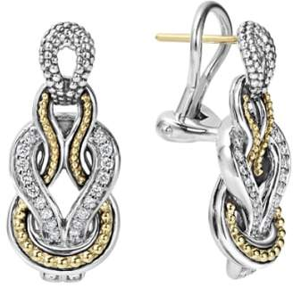 Lagos 'Newport' Diamond Knot Earrings