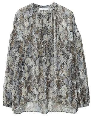 MANGO Sheer printed blouse
