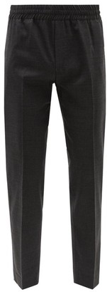 Acne Studios Elasticated Waist Wool Trousers - Mens - Grey