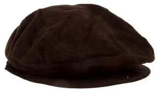 Gucci Suede Newsboy Hat