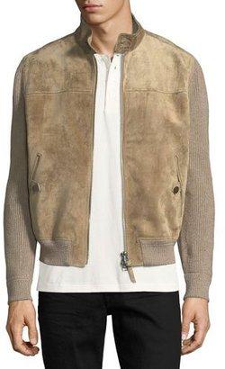 TOM FORD Cashmere-Linen Suede-Front Blouson Jacket $5,990 thestylecure.com
