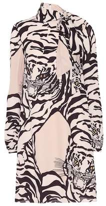 Valentino Tiger-printed silk dress