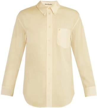 Acne Studios Beatrix logo-embroidered cotton shirt