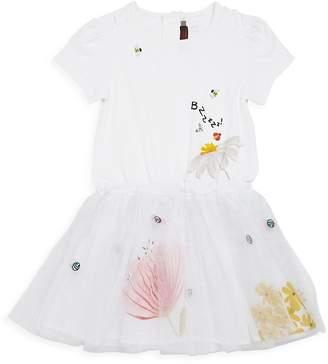Catimini Little Girl's & Girl's Tutu Embroidered Dress