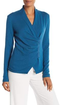 Lafayette 148 New York Gathered Front Cashmere Sweater