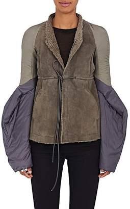 Rick Owens Women's Fur Bell-Sleeve Jacket - Gray