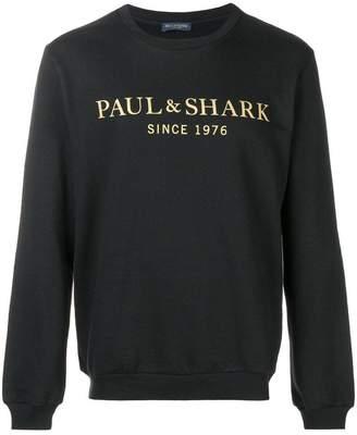Paul & Shark logo print sweatshirt