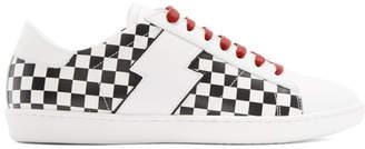 Amiri White and Black Check Viper Sneakers