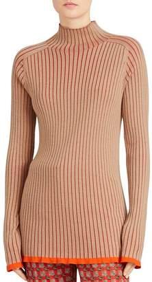 Burberry Buckhannon Ribbed Mock Turtleneck Sweater