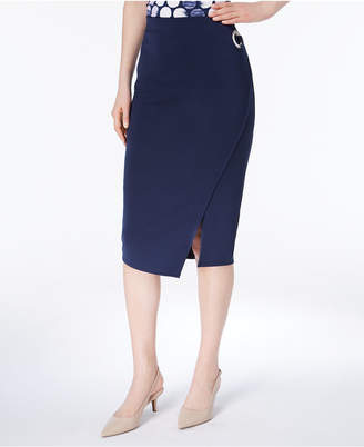 Alfani Grommet Scuba Wrap Skirt, Created for Macy's