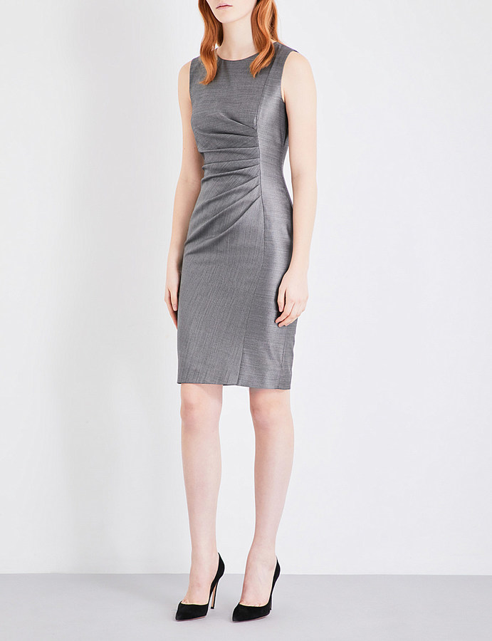 Max Mara MAX MARA Canter ruched wool-blend dress