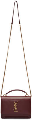 Saint Laurent Red Sunset Chain Wallet Bag