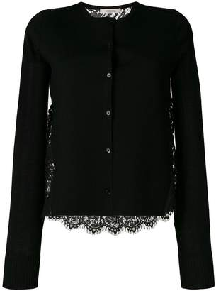 Schumacher Dorothee round neck cardigan with lace back