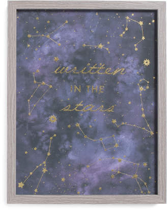 11x14 Written In The Stars Wall Art
