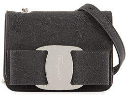 Salvatore Ferragamo Vara Rainbow Glitter Leather Shoulder Bag