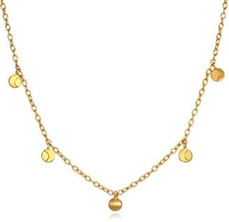 """Satya Jewelry Plate Moon Phase (14-Inch +2"""" Ext) Choker Necklace"""