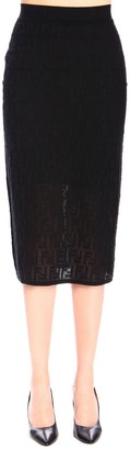 Fendi Skirt Skirt In Knit Tube With All Over Monogram