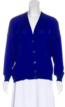 Stella McCartney Wool-Blend Button-Up Cardigan