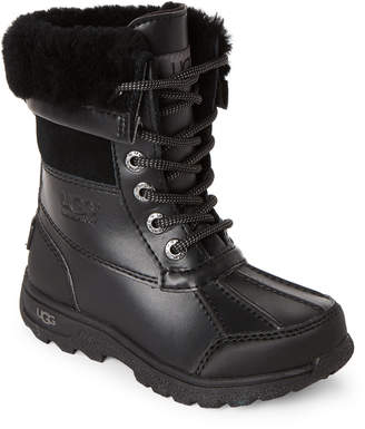 UGG Kids) Black Butte Lined Duck Boots