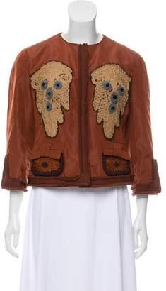 Prada Silk-Blend Embroidered Blazer w/ Tags