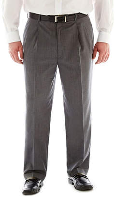 STAFFORD Stafford Executive Super 100 Wool Pleated Suit Pants - Big & Tall