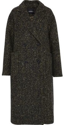 Goen.j Double-Breasted Herringbone Wool Coat