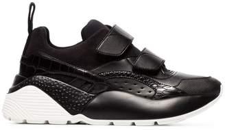 Stella McCartney black eclypse velcro strap sneakers