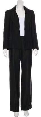 Rochas Textured Wide-Leg Pantsuit