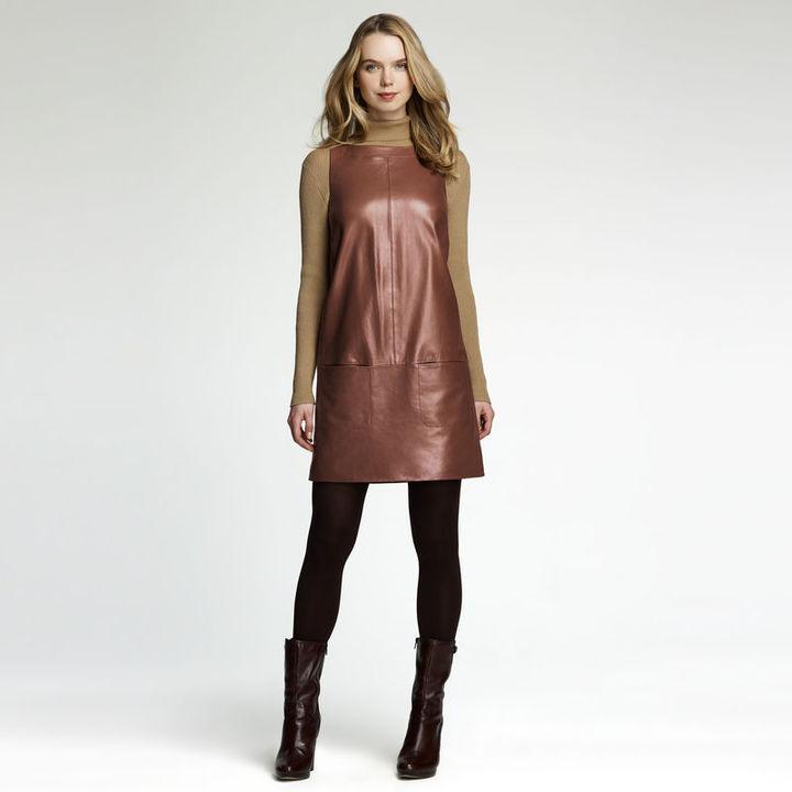 Anne Klein Leather Shift Dress