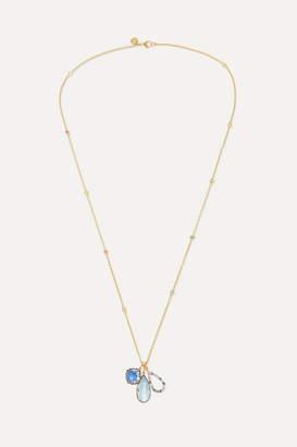 Larkspur & Hawk Lady Emily 14-karat Gold And Rhodium-dipped Multi-stone Necklace