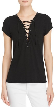 PAM & GELA Lace-Up Tee $115 thestylecure.com