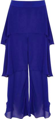 River Island Womens Blue tiered frill culottes
