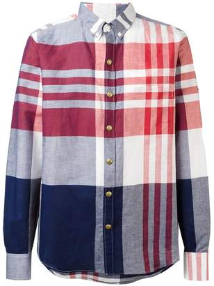 Moncler checked long sleeve shirt