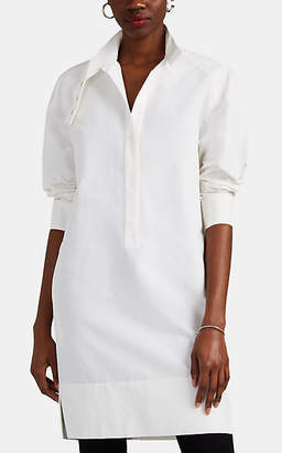 Narciso Rodriguez Women's Cotton-Silk Faille Shirtdress - White
