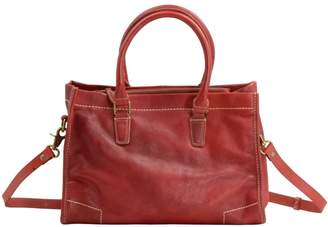 EAZO - Handmade Soft Leather Crossbody Brief Bag In Red
