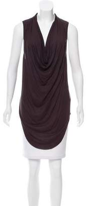 Helmut Lang Cowl Neck High-Low Top
