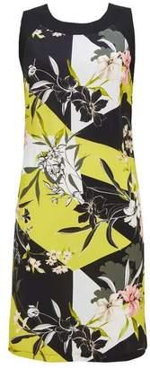Wallis Lime Print Blocked Shift Dress