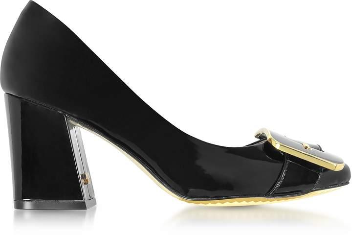 Tory Burch Maria Black Patent Leather Heel Pumps
