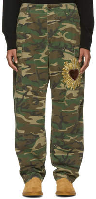 Dolce & Gabbana Green and Brown Camo Cargo Pants